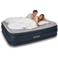 Intex Deluxe Raised Pillow Rest Airbed Mattress with Built-In Pump, Twin, Full and Queen Sizes Available - Walmart.com