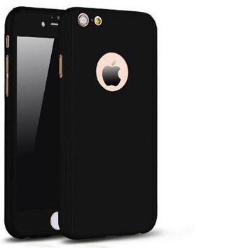 CREYRQ5 iPhone 6 Plus/6s Plus Full Body Hard Case-Aurora Black Front and Back Cover with Tempered Glass Screen Protector for iPhone 6 Plus/6s Plus 5.5 Inch