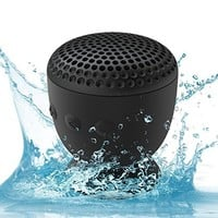 The AquaAudio™ Cubo - Waterproof Bluetooth Wireless Speaker with Strong Suction Cup for Showers, Bathroom, Pool, Boat, Car, Beach, Outdoor etc. / Optimized Buttons for Easy Control / Amazingly Powerful & Crystal Clear Sound / Compatible with All Devices wi