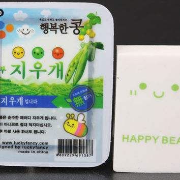 Happy Soybean Tofu Eraser