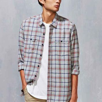 Stapleford Bates Acid Plaid Flannel Button-Down Shirt