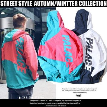 Alphabet Couple Hoodies Windbreaker Jacket [17370939411]