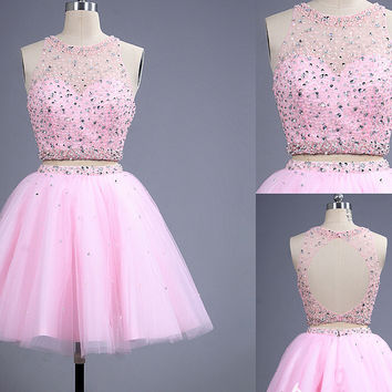 Homecoming Dresses,Beading Homecoming Dress,Crystal Homecoming Dress,Mini Homecoming Dress