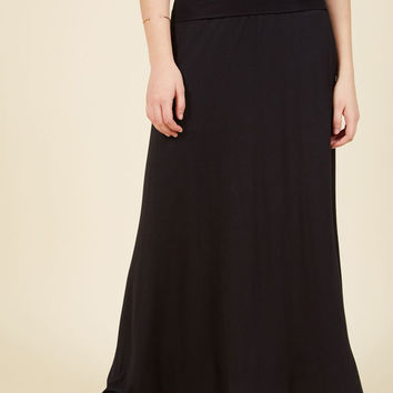Days of Fold Maxi Skirt in Black