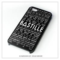 Bastille Lyric Pompeii iPhone 4 4S 5 5S 5C 6 6 Plus , iPod 4 5 , Samsung Galaxy S3 S4 S5 Note 3 Note 4 , HTC One X M7 M8 Case
