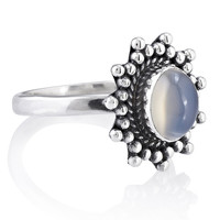 Majestic Milky Moonstone Ring