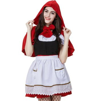 Chicloth Little Red Riding Hood Mother and Child Halloween Cosplay Costume