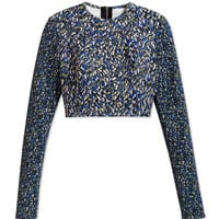 Yigal Azrouel Feather Scuba Top - Printed Cropped Top - ShopBAZAAR