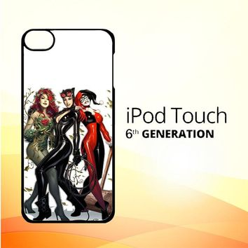 Poison Ivy Harley Quinn,Batgirl And Catwoman  Z0225 iPod Touch 6 Case