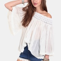 Morning Air Off Shoulder Blouse