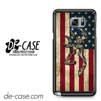 Browning Deer Camo American Flag Wood For Samsung Galaxy Note 5 Case Phone Case Gift Present