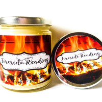 Book Scented Candle - Fireside Reading Candle - Gifts For Writers - Soy Candles - Literary Gift Ideas - Book Candle - Books - Candles - Gift