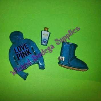 DCCK8X2 Victoria Secret Love Pink Hoodie, UGG, Lotion Cabochon Set for DIY Projects