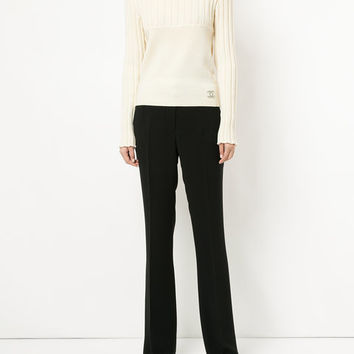 Chanel Vintage Ribbed Turtleneck Jumper - Farfetch