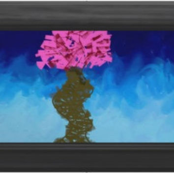 Nature Abstract Expressionist graffiti Cherry Blossom Impressionist art print signed art print 6x4 8x10 nature  green blue black yellow