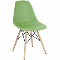 Pyramid Dining Side Chair Light Green