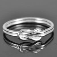 bridesmaid gift infinity ring sterling silver ring by JubileJewel