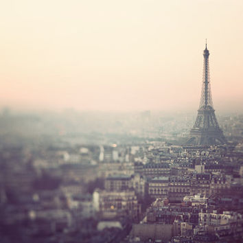 Paris Photography, Eiffel Tower at Sunrise Print, Pastel, Pink, Purple, French Home Decor, Fine Art Print - No Cure For Paris