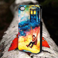 doctor who tardis oil pain # iphone 4,4s,5,5s,5c, samsung galaxy s3,s4,s5 and ipod 4,5 case