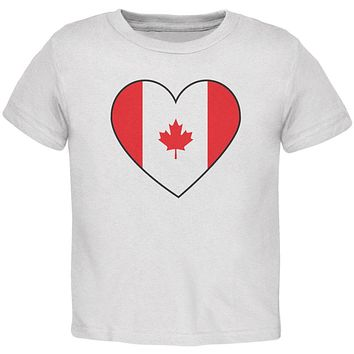 Canada Day Canadian Flag Heart Toddler T Shirt