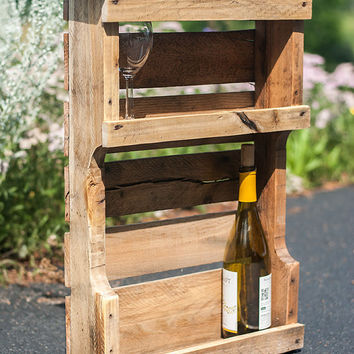 Pallet Wine Rack - Pallet Furniture - Rustic Wine Rack - Wine Rack - Wood Wine Rack - Reclaimed Wood Wine Rack - Wine Holder