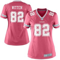 Women's Dallas Cowboys Jason Witten Pink Nike Game Jersey