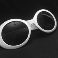 SHIPS FROM US!! - Kurt Cobain Sunglasses - Nirvana Front Man Glasses White MOD 2
