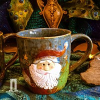 Santa's Face Ceramic Christmas Coffee Mug