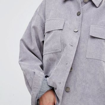 Native Youth Oversized Corduroy Trucker Jacket