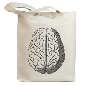Vintage Medical Brain Eco Friendly Canvas Tote Bag (id0138)