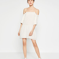 OFF - THE-SHOULDER EMBROIDERED DRESS-DRESSES-COLLECTION-TRF-SALE | ZARA United States