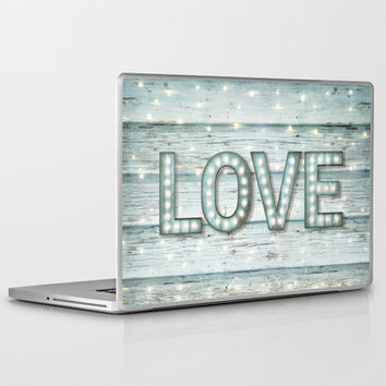 Love is the Light of Your Soul (LOVE lights II) Laptop & iPad Skin by soaring anchor designs ⚓ | Society6