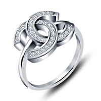 Round White CZ in 925 Sterling Silver Classy Fashion Ring Size 5 67 8 9 10 11 12