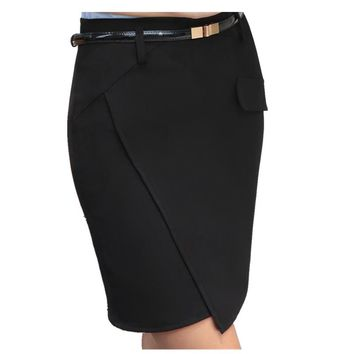 New Summer Fashion Office Skirts Womens Spring Summer OL Formal Office Ladies Mini Short Skirt Plus Size Women's Pencil Skirt