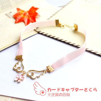 Japanese kawaii wings star necklaces SE10562