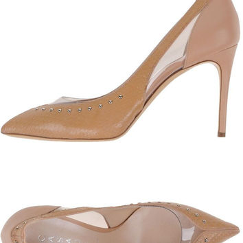 Summer Designer Shoes | Nude Studs + Soft Leather