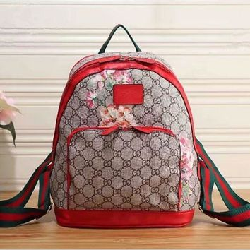 shoppingmusic : GUCCI Women Casual School Bag Cowhide Leather Backpack