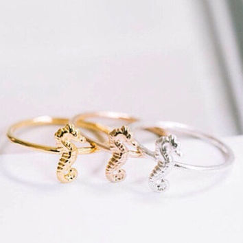 Stacking Ring SEAHORSE Lilly Pulitzer Inspired