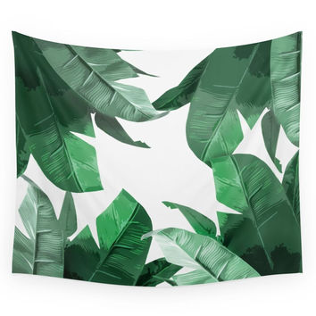 Society6 Tropical Palm Print Wall Tapestry