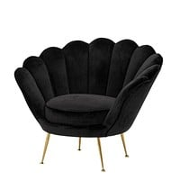Black Scalloped Shaped Chair | Eichholtz Trapezium