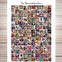 Instagram Collage print // Instagram photo collage // 150 instagram pictures collage // Housewarming Gift // 20 x 30 Hi res JPEG Printable