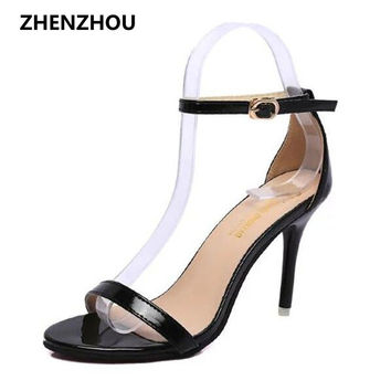 Free shipping summer 2017 peep-toe heel sandals heels waterproof cross strap hollow out sexy sandals for women's shoes