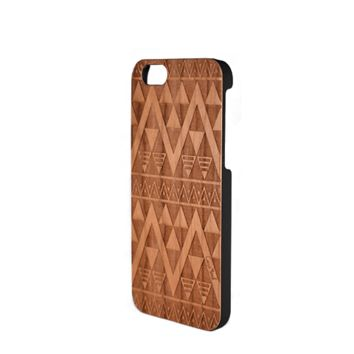 CLEARANCE SALE - Case Yard Carved Wood Phone Case - Triangle- iPhone 6 ONLY