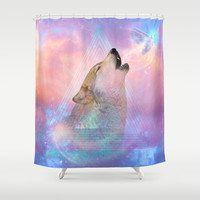 Dream By Day (Wolf Dreams Remix) Shower Curtain by soaring anchor designs ⚓