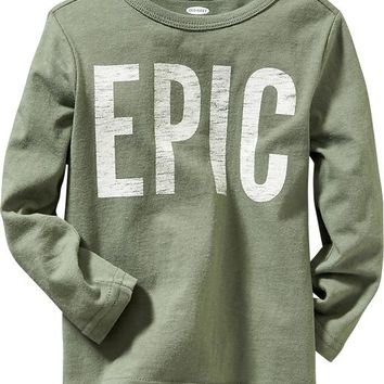 "Old Navy Long Sleeve ""Epic"" Graphic Tees For Baby"