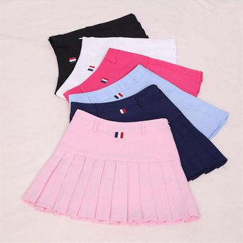 VONEUG5 Harajuku Women Ball Pleated Skirts School Style Uniform 2017 Spring Summer Plus Size Korean Girls A-line High Waist Mini Skirts