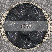 NYX Mineral Eyeshadow: 5g Sifter Jar, Pure Sparkle Black, Vegan Cosmetics, Glittery Eyeshadow