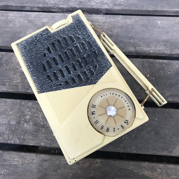 Vintage Transistor Radio, General Electric Model P-808H, AS IS, Untested, 1960s