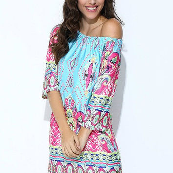 Southern Sass Off Shoulder Mini Dress