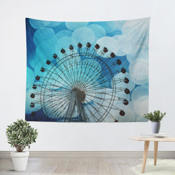 Royal Blue Ferris Wheel Tapestry
